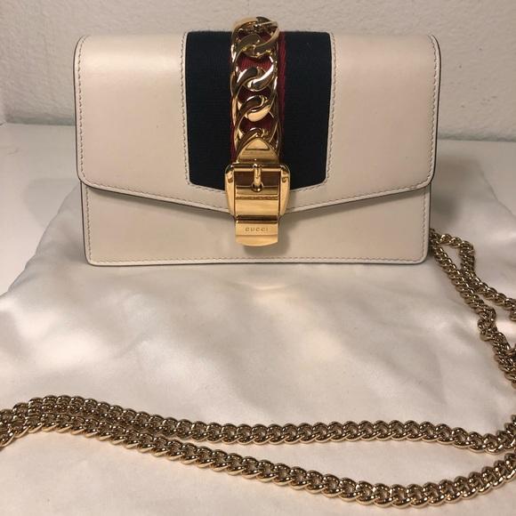 d7049ea71f7 Gucci Handbags - Sylvie leather mini chain bag